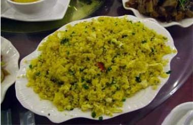 Pot off fried rice (millet)